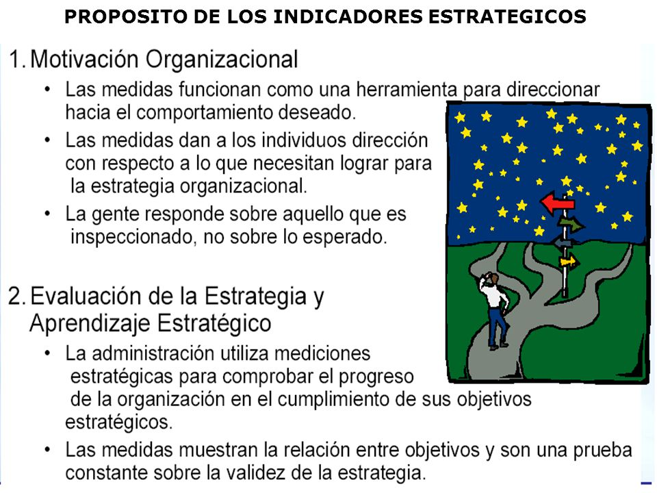 PROPOSITO DE LOS INDICADORES ESTRATEGICOS