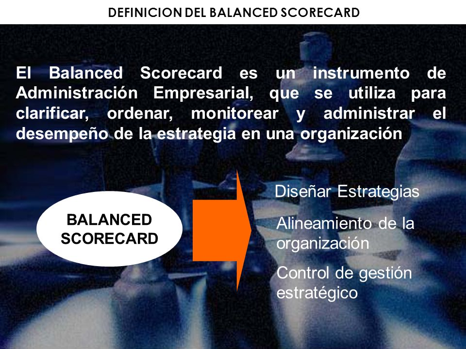 DEFINICION DEL BALANCED SCORECARD