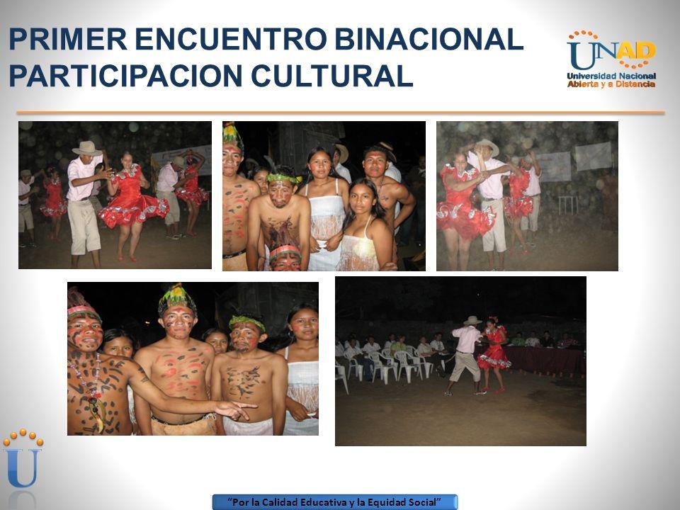 PRIMER ENCUENTRO BINACIONAL PARTICIPACION CULTURAL