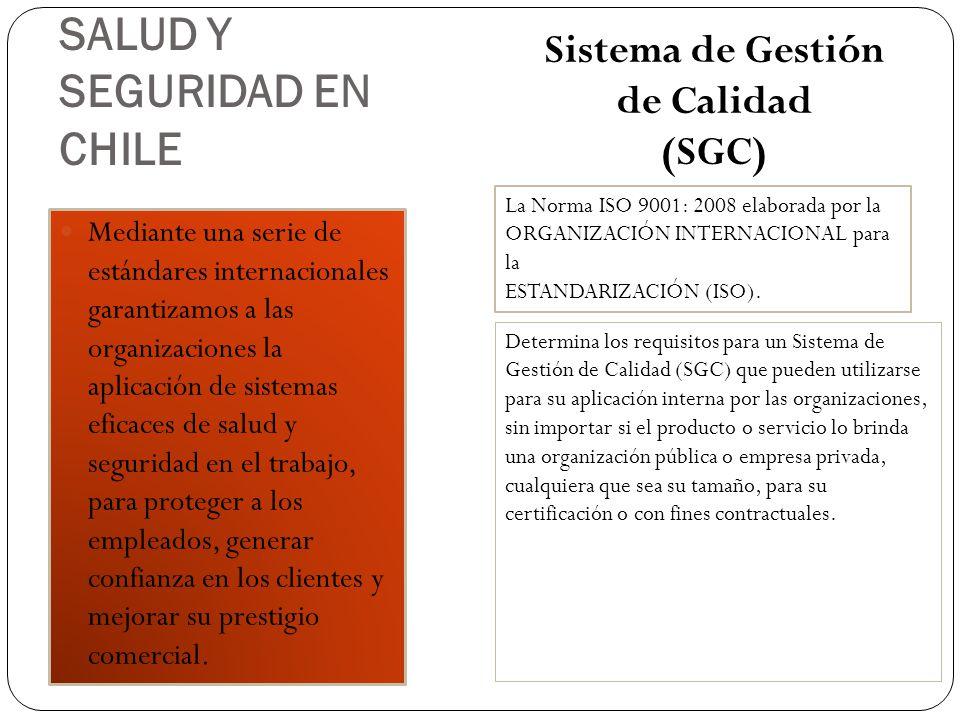 SALUD Y SEGURIDAD EN CHILE