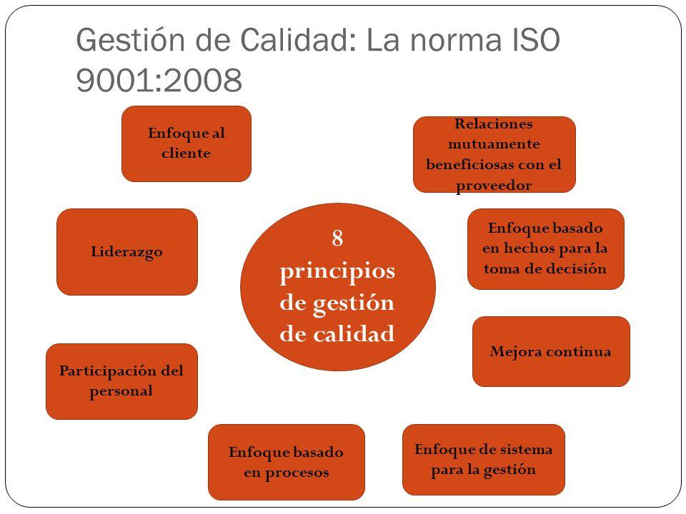 Gestión de Calidad: La norma ISO 9001:2008