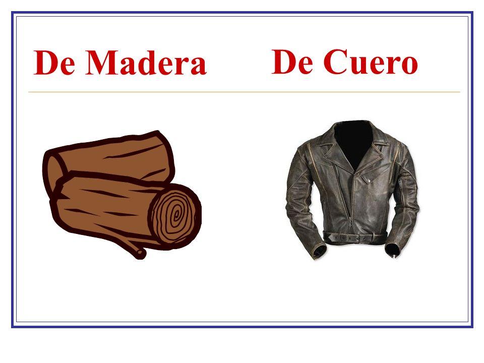 De Madera De Cuero