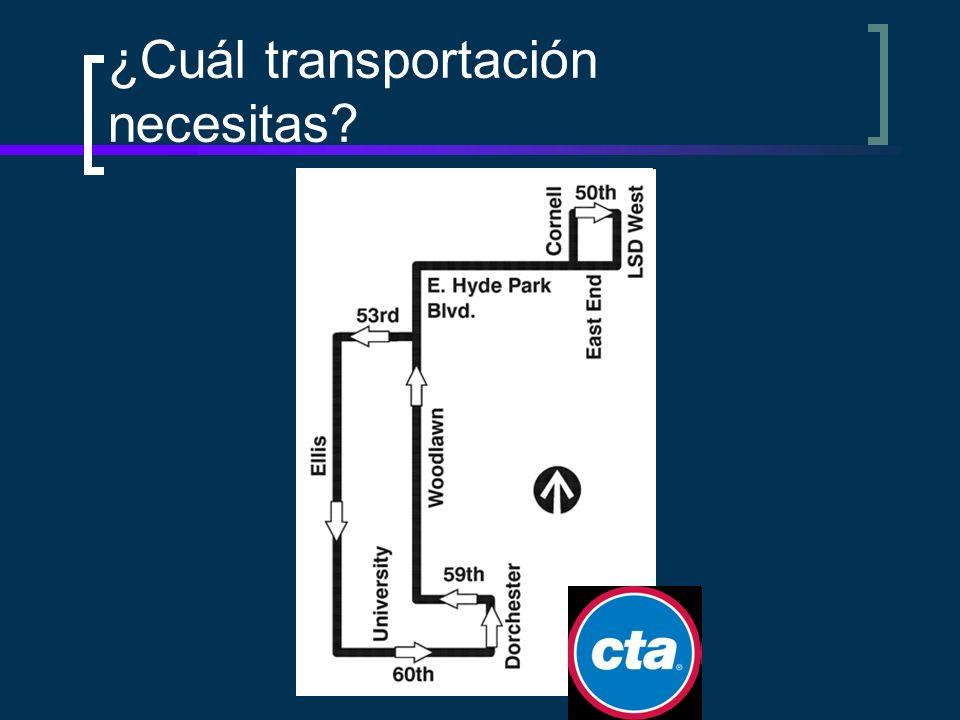 ¿Cuál transportación necesitas