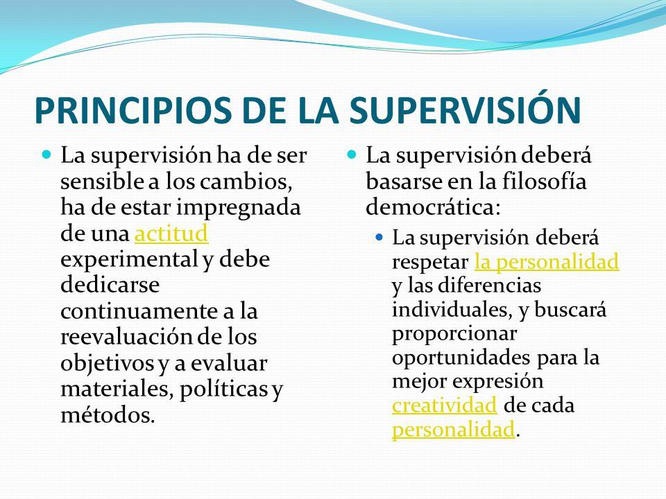 PRINCIPIOS DE LA SUPERVISIÓN