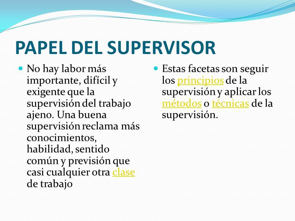 PAPEL DEL SUPERVISOR