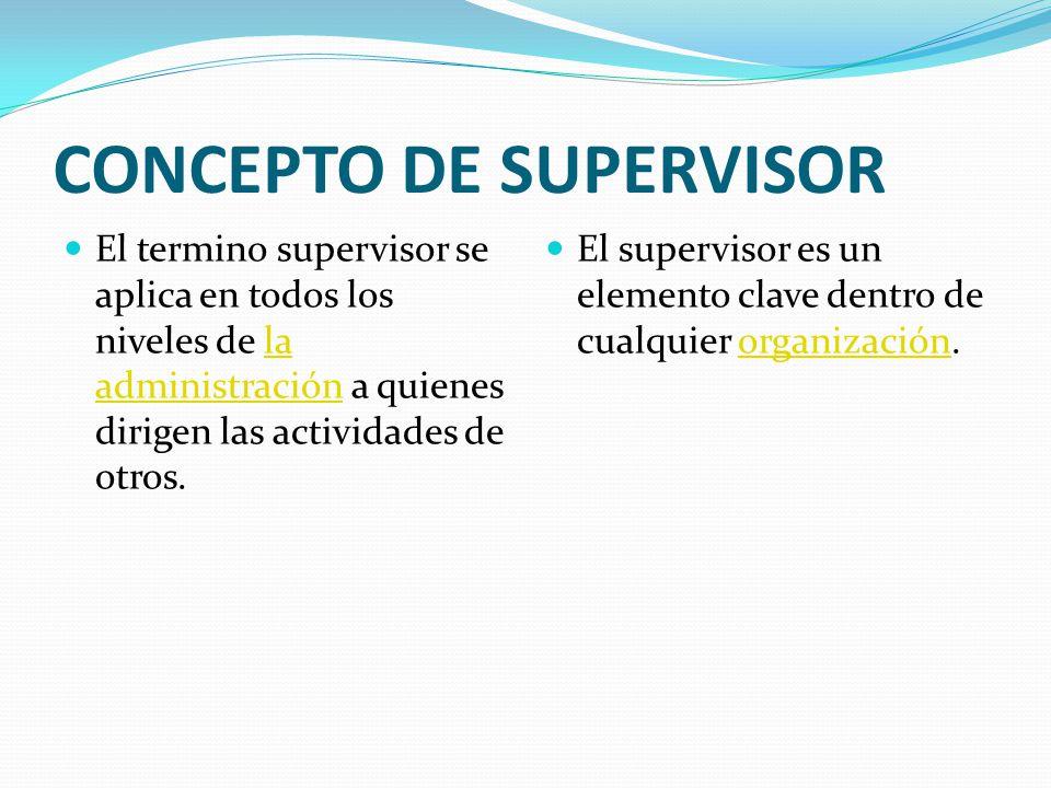 CONCEPTO DE SUPERVISOR