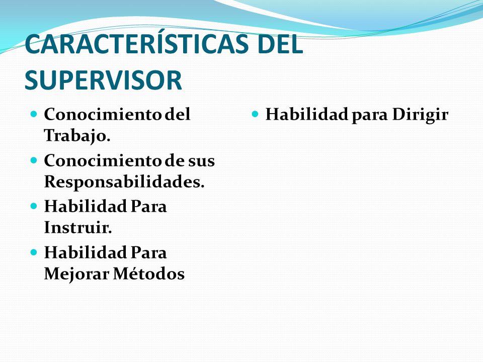 CARACTERÍSTICAS DEL SUPERVISOR