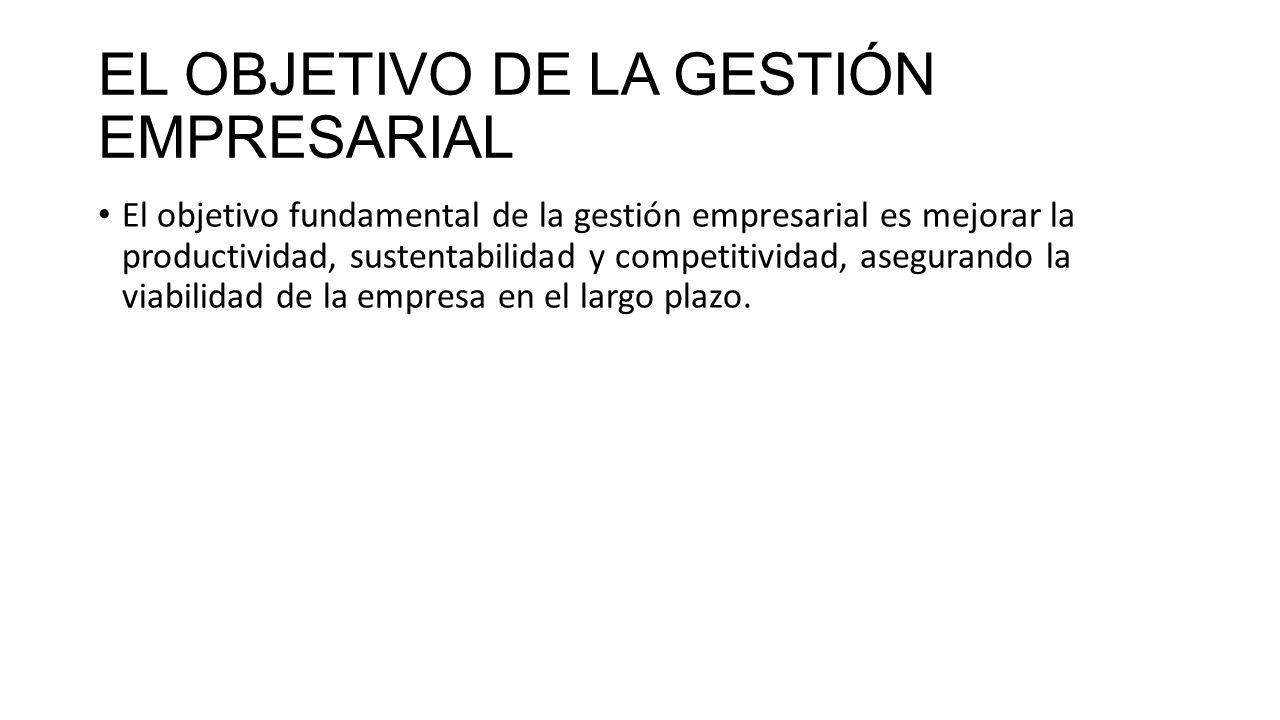 EL OBJETIVO DE LA GESTIÓN EMPRESARIAL
