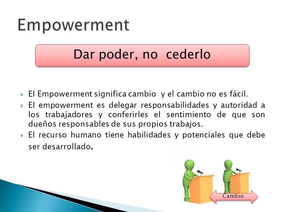 Empowerment Dar poder, no cederlo