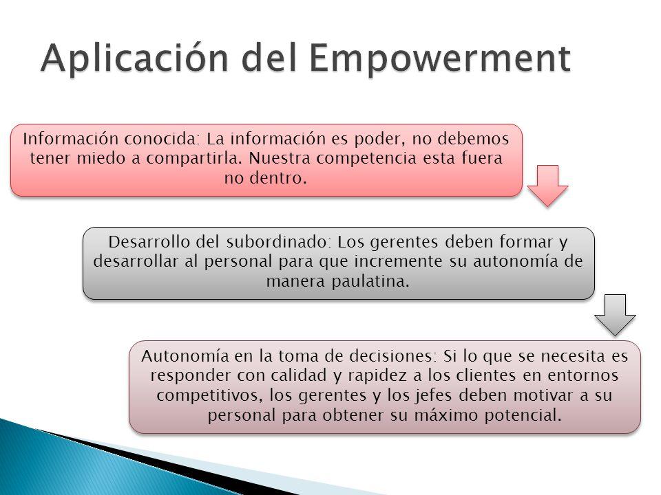 Aplicación del Empowerment