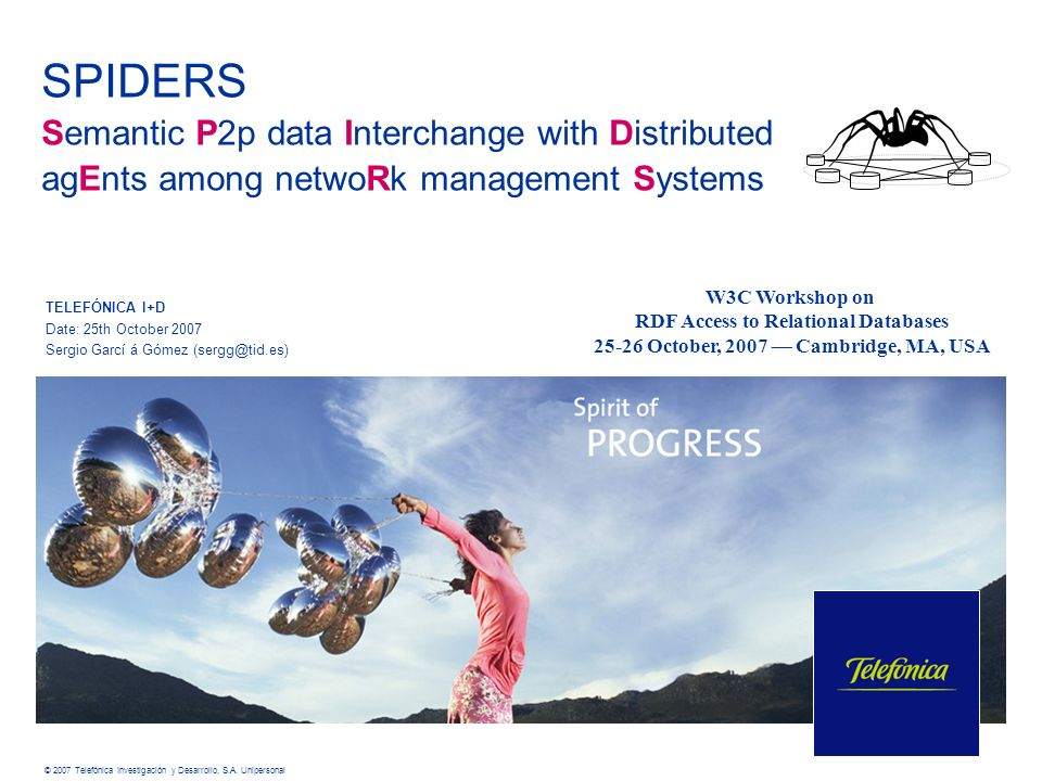 SPIDERS Semantic P2p data Interchange with Distributed