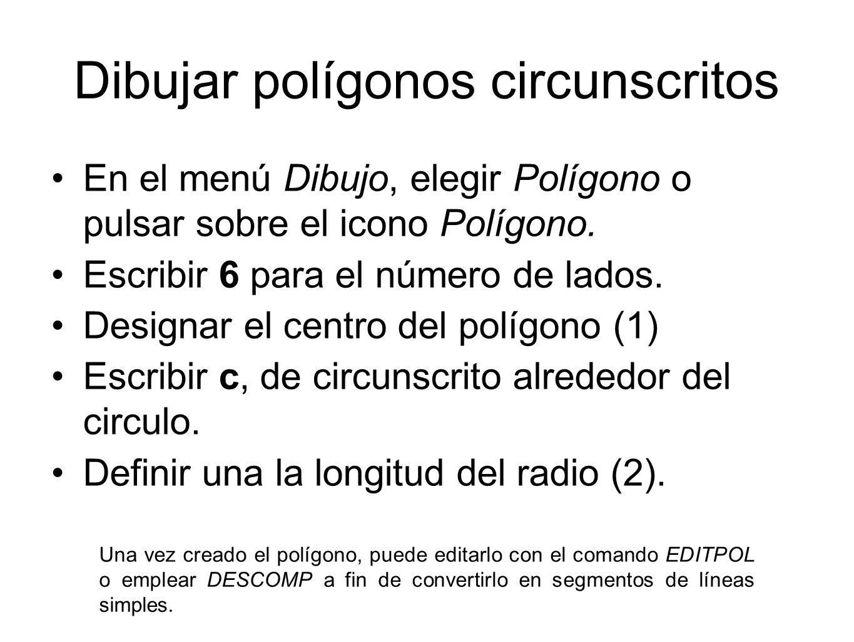 Dibujar polígonos circunscritos