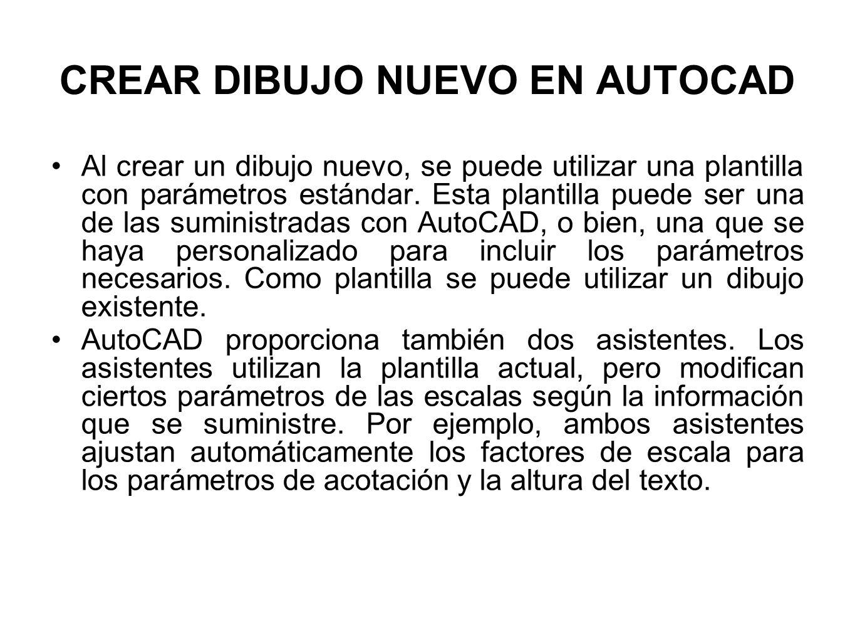 CREAR DIBUJO NUEVO EN AUTOCAD