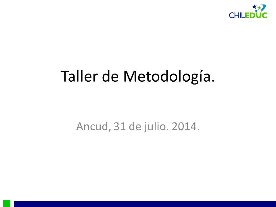 Taller de Metodología. Ancud, 31 de julio. 2014.