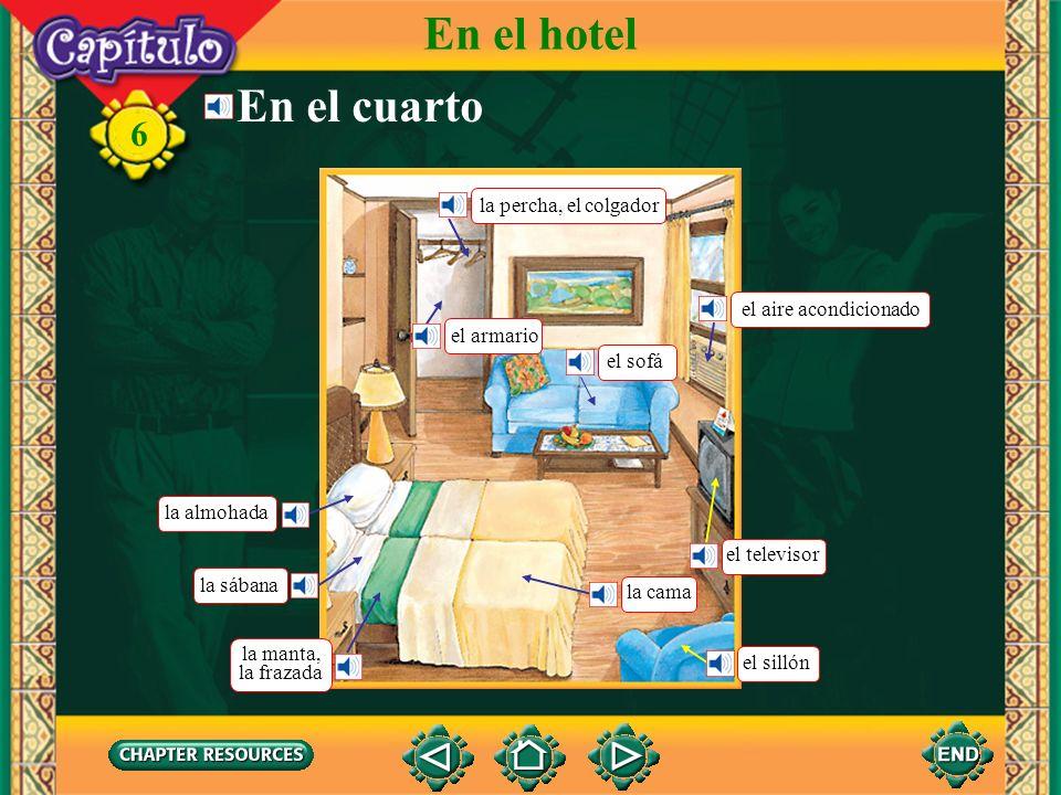 En el hotel En el cuarto la percha, el colgador el aire acondicionado