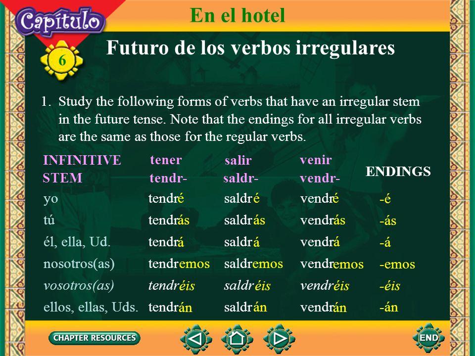 Futuro de los verbos irregulares