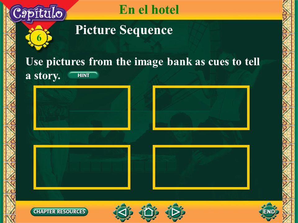 En el hotel Picture Sequence