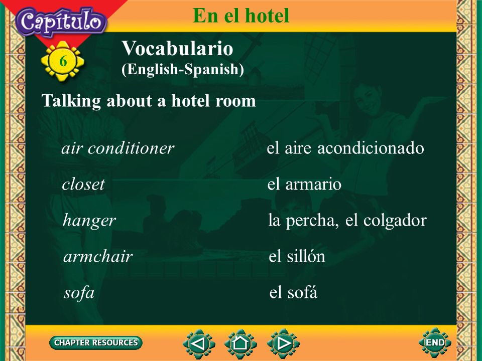 En el hotel Vocabulario Talking about a hotel room air conditioner