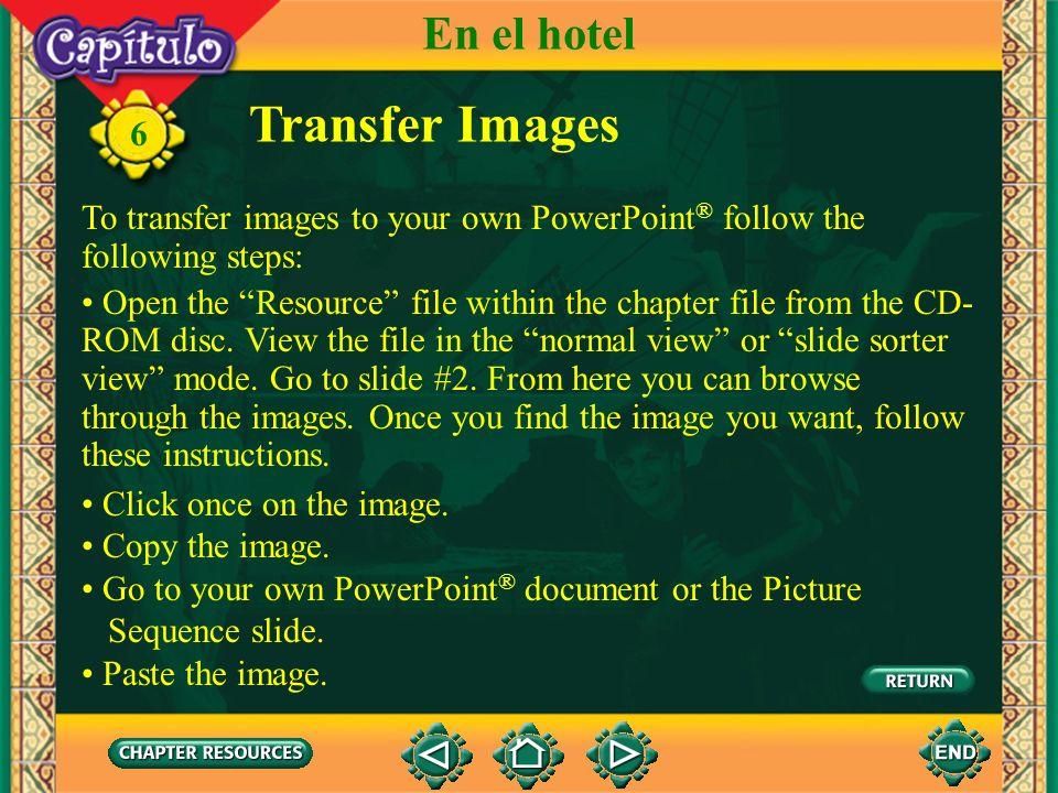 Transfer Images En el hotel