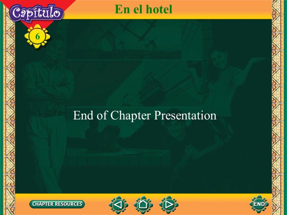 En el hotel End of Chapter Presentation