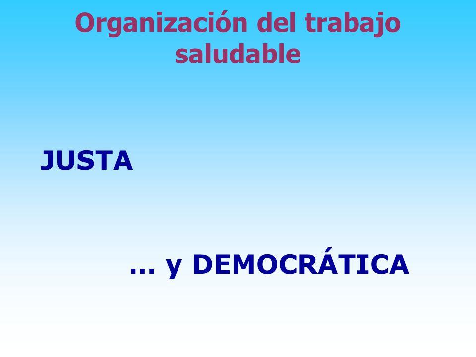 Organización del trabajo saludable