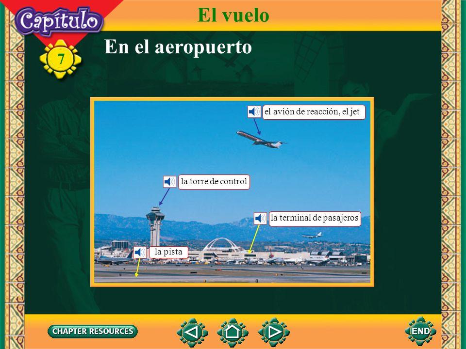 El vuelo En el aeropuerto el avión de reacción, el jet