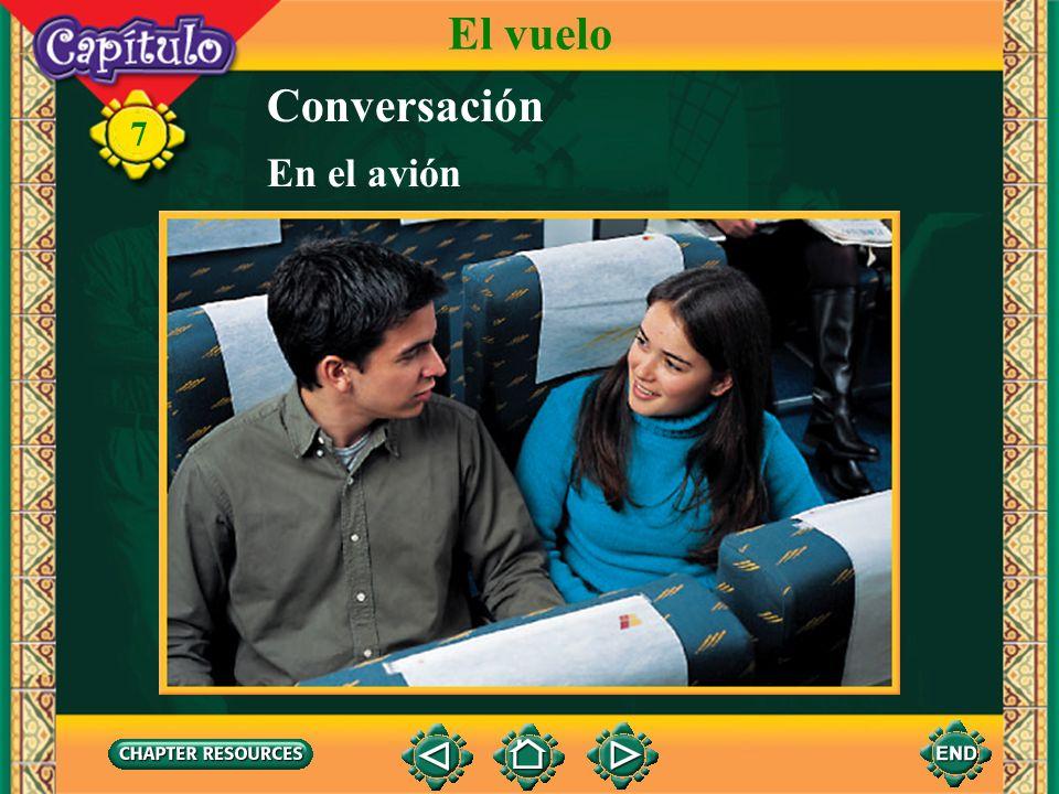 El vuelo Conversación En el avión