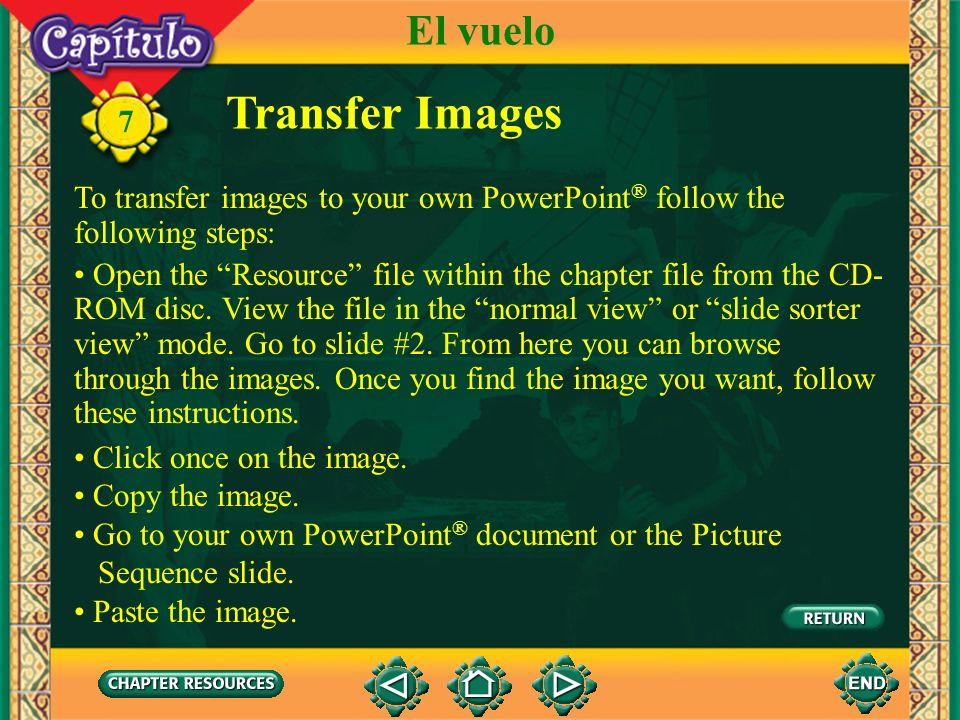 Transfer Images El vuelo