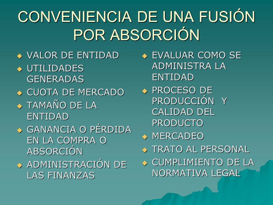 CONVENIENCIA DE UNA FUSIÓN POR ABSORCIÓN