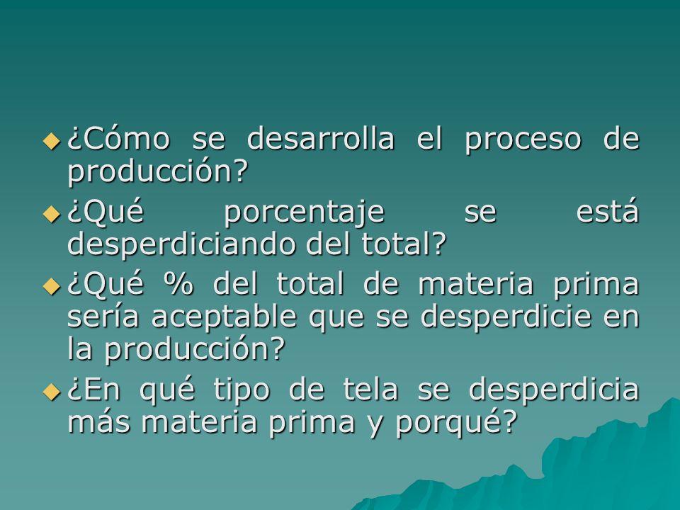 ¿Cómo se desarrolla el proceso de producción