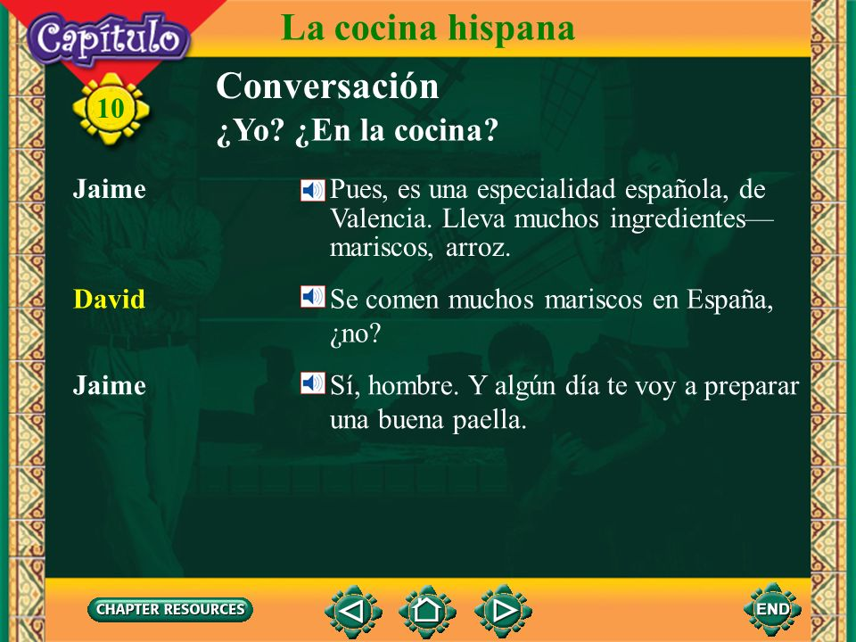 La cocina hispana Conversación ¿Yo ¿En la cocina