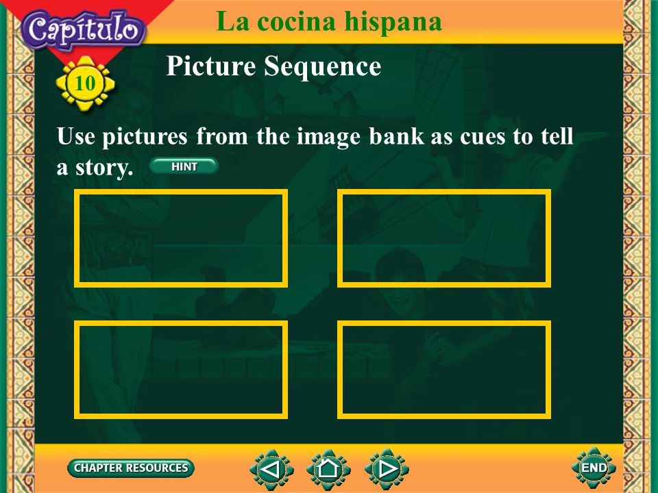 La cocina hispana Picture Sequence