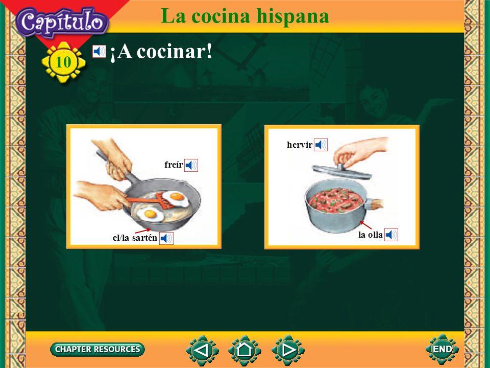 La cocina hispana ¡A cocinar! hervir freír el/la sartén la olla