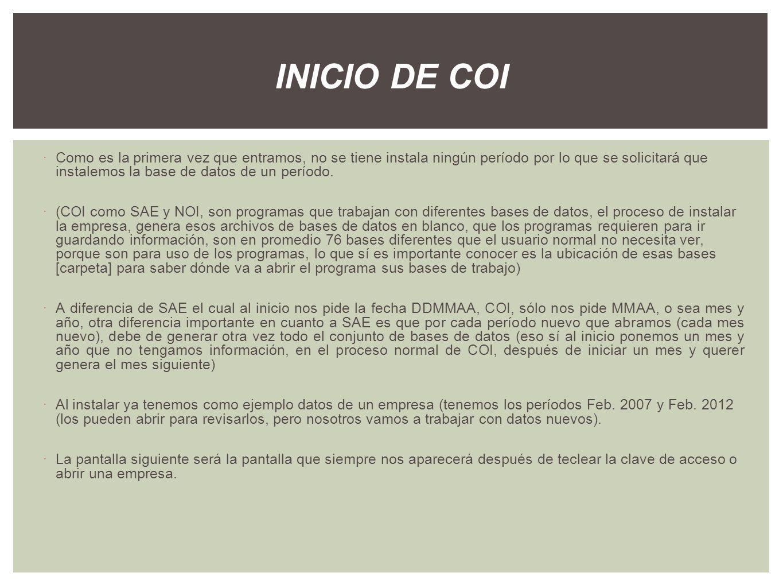 INICIO DE COI