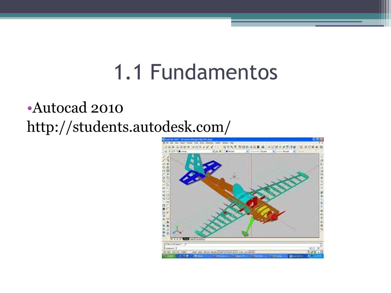 1.1 Fundamentos Autocad 2010 http://students.autodesk.com/