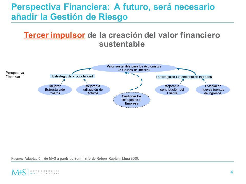 Perspectiva Financiera: A futuro, será necesario añadir la Gestión de Riesgo