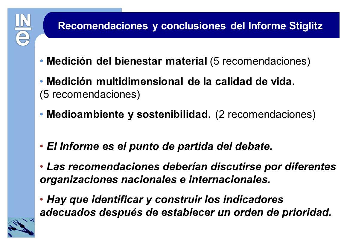 Recomendaciones y conclusiones del Informe Stiglitz