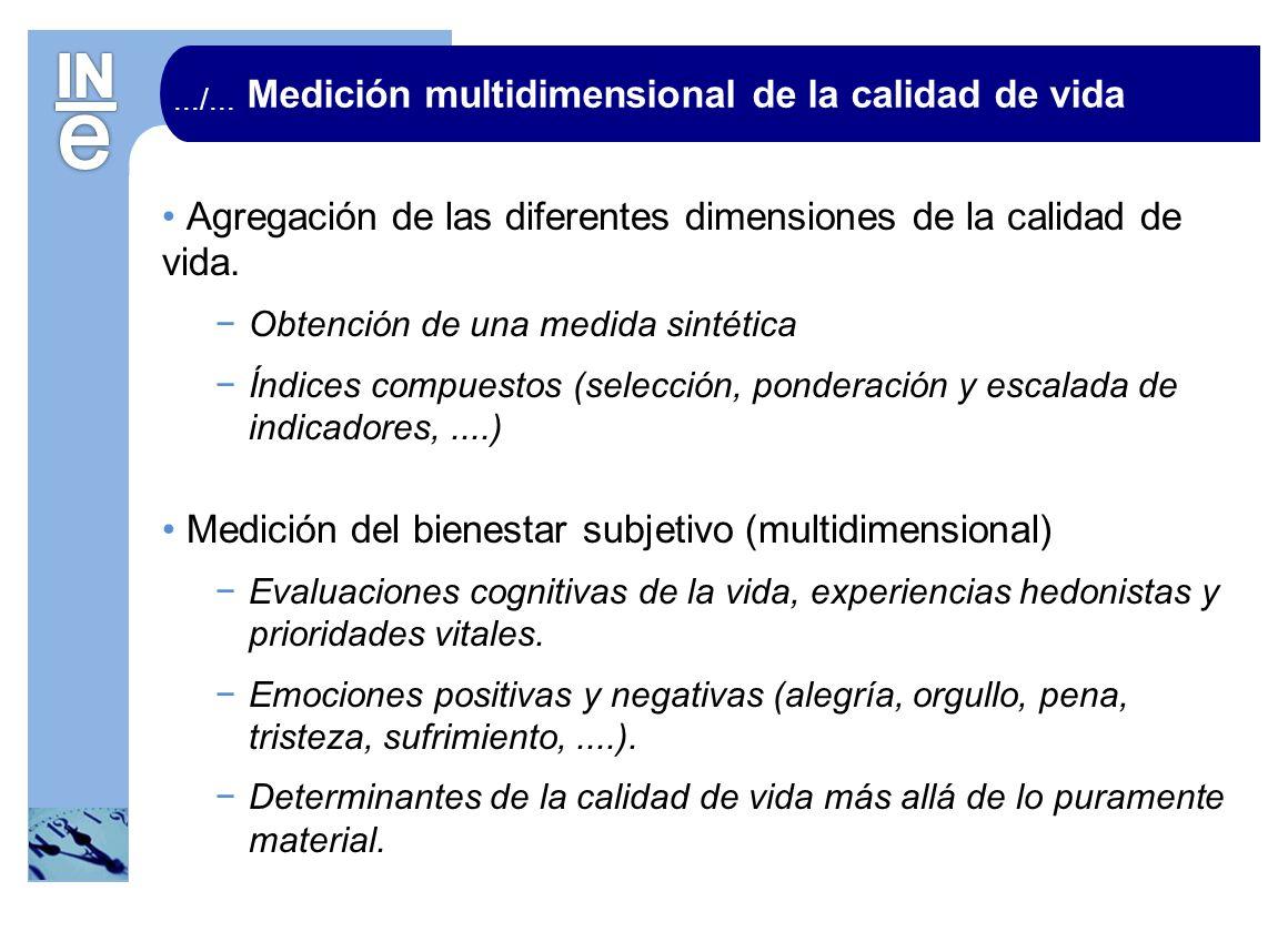 Medición multidimensional de la calidad de vida