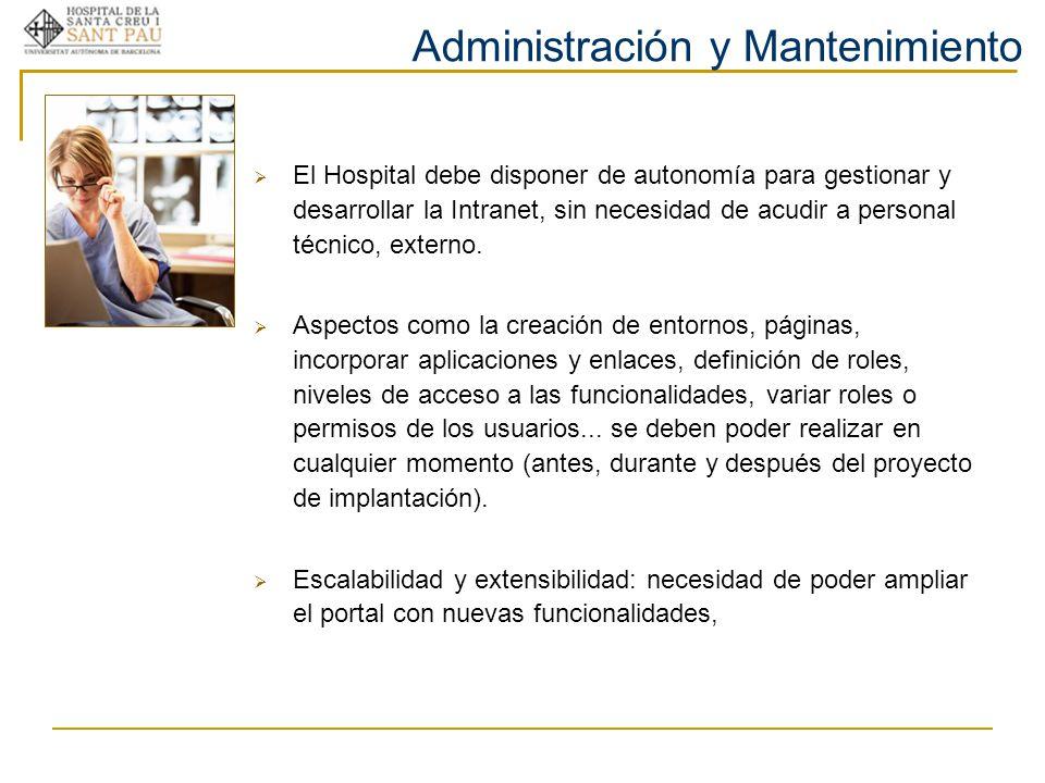Administración y Mantenimiento