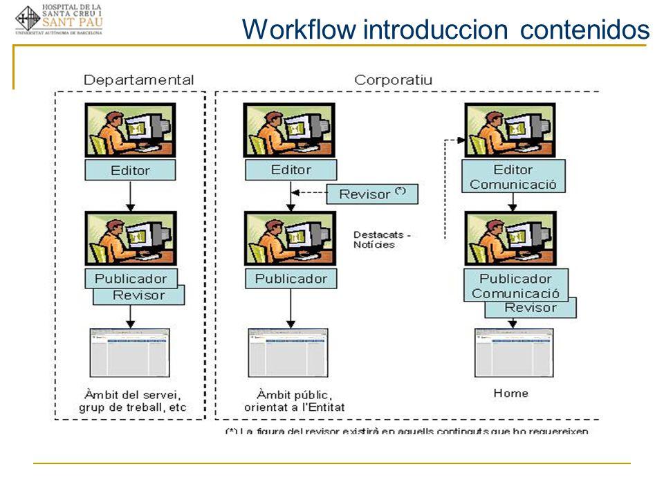 Workflow introduccion contenidos