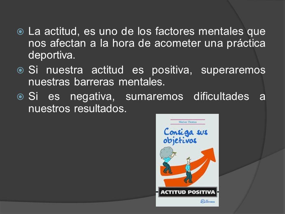 La actitud, es uno de los factores mentales que nos afectan a la hora de acometer una práctica deportiva.