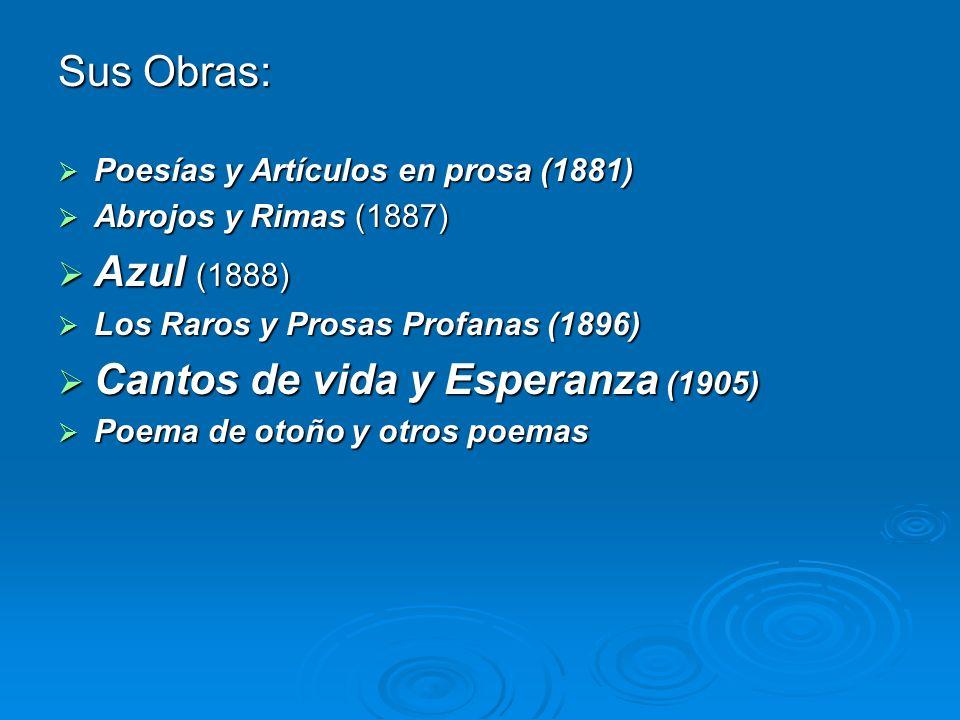 Cantos de vida y Esperanza (1905)