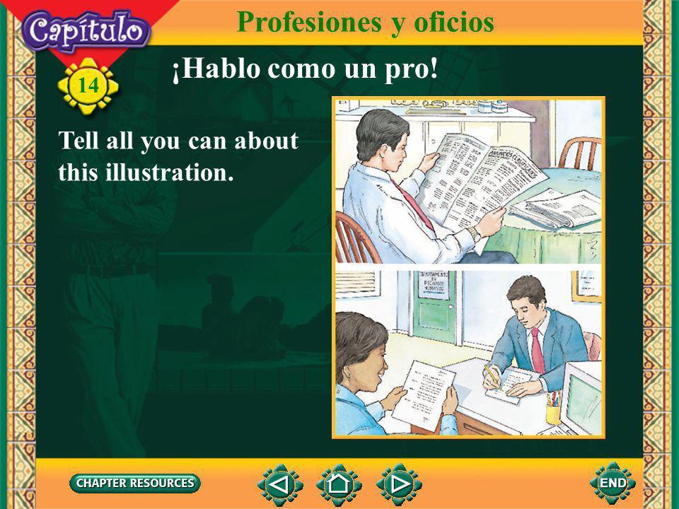 Profesiones y oficios ¡Hablo como un pro!