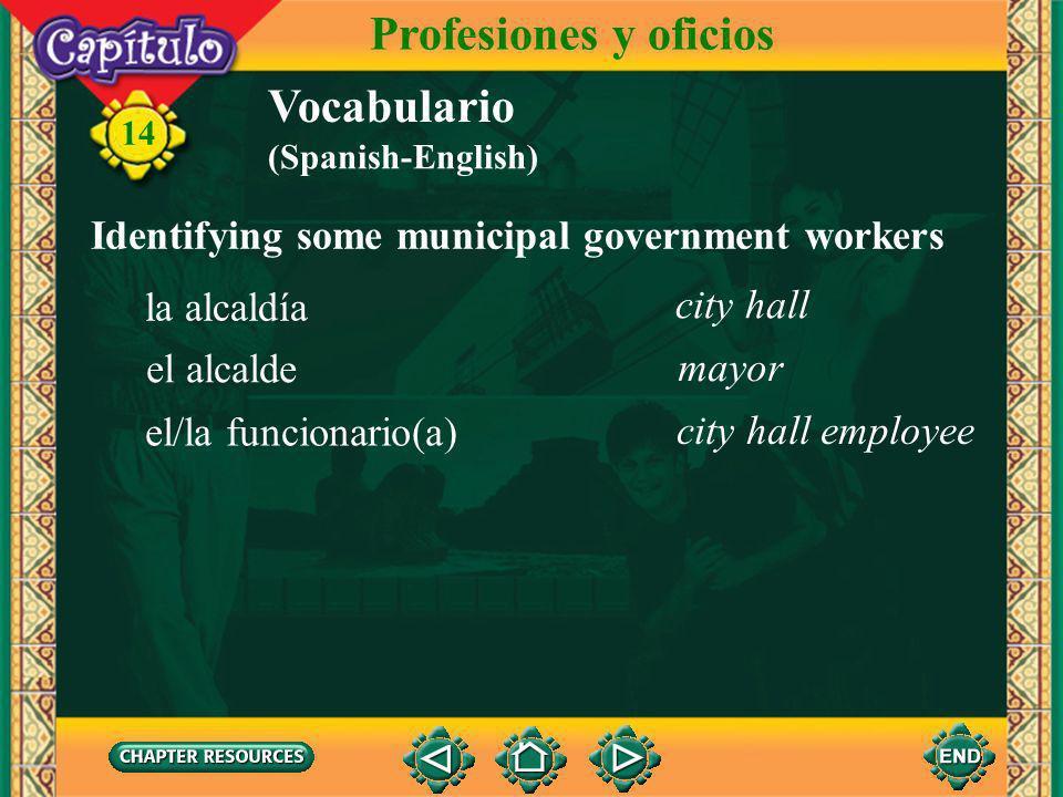 Profesiones y oficios Vocabulario