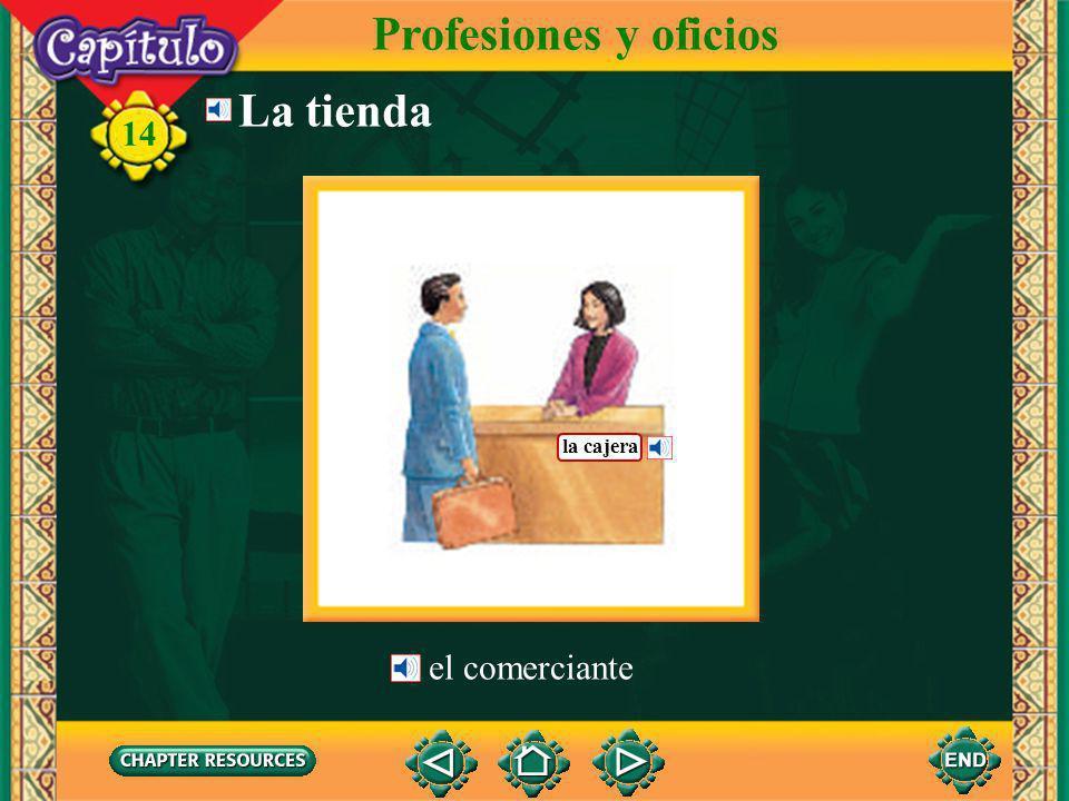 Profesiones y oficios La tienda la cajera el comerciante