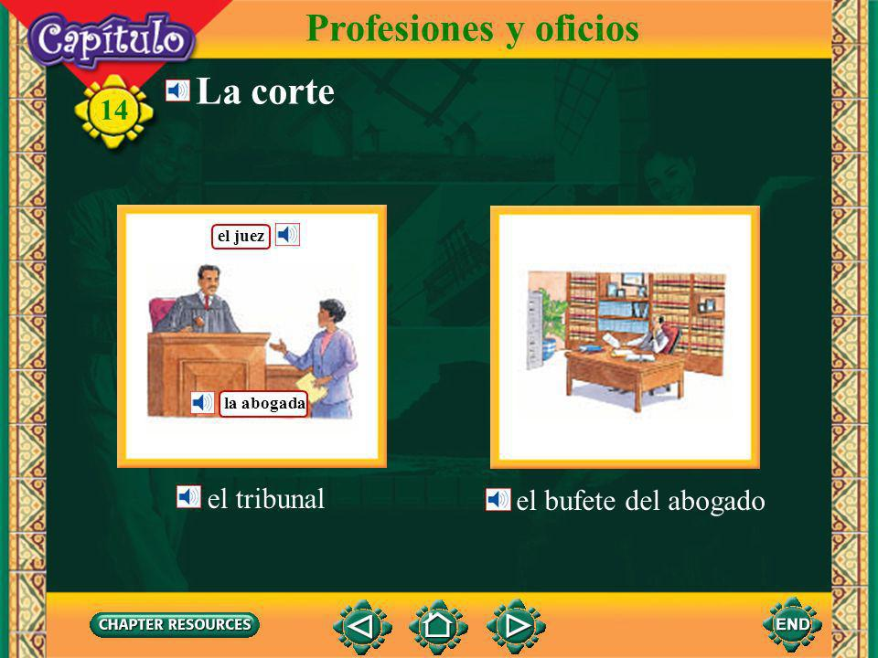 Profesiones y oficios La corte el tribunal el bufete del abogado