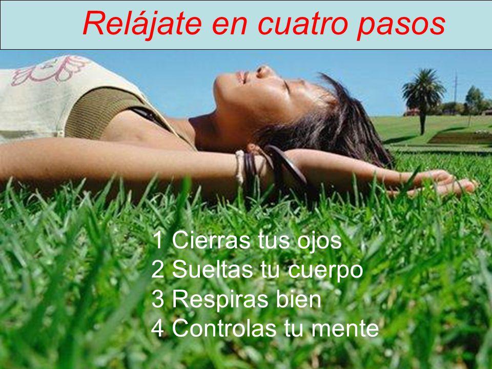 Relájate en cuatro pasos