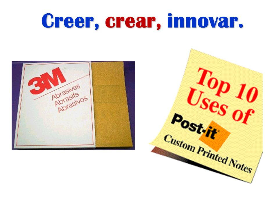 Creer, crear, innovar.