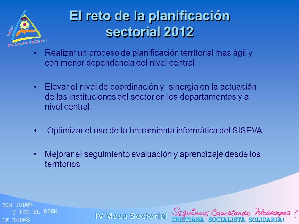 El reto de la planificación sectorial 2012