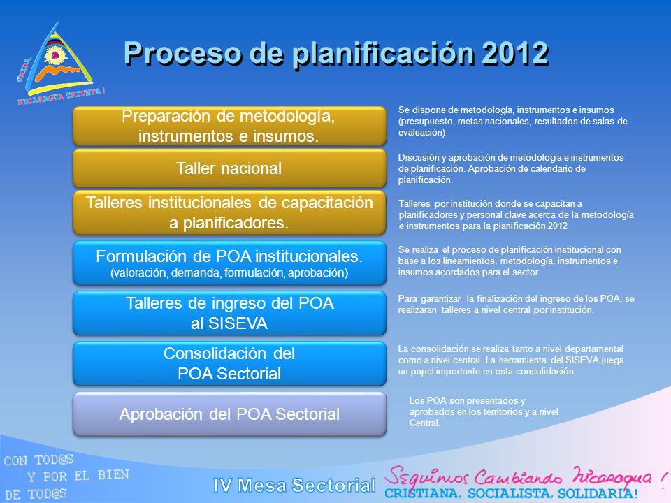 Proceso de planificación 2012